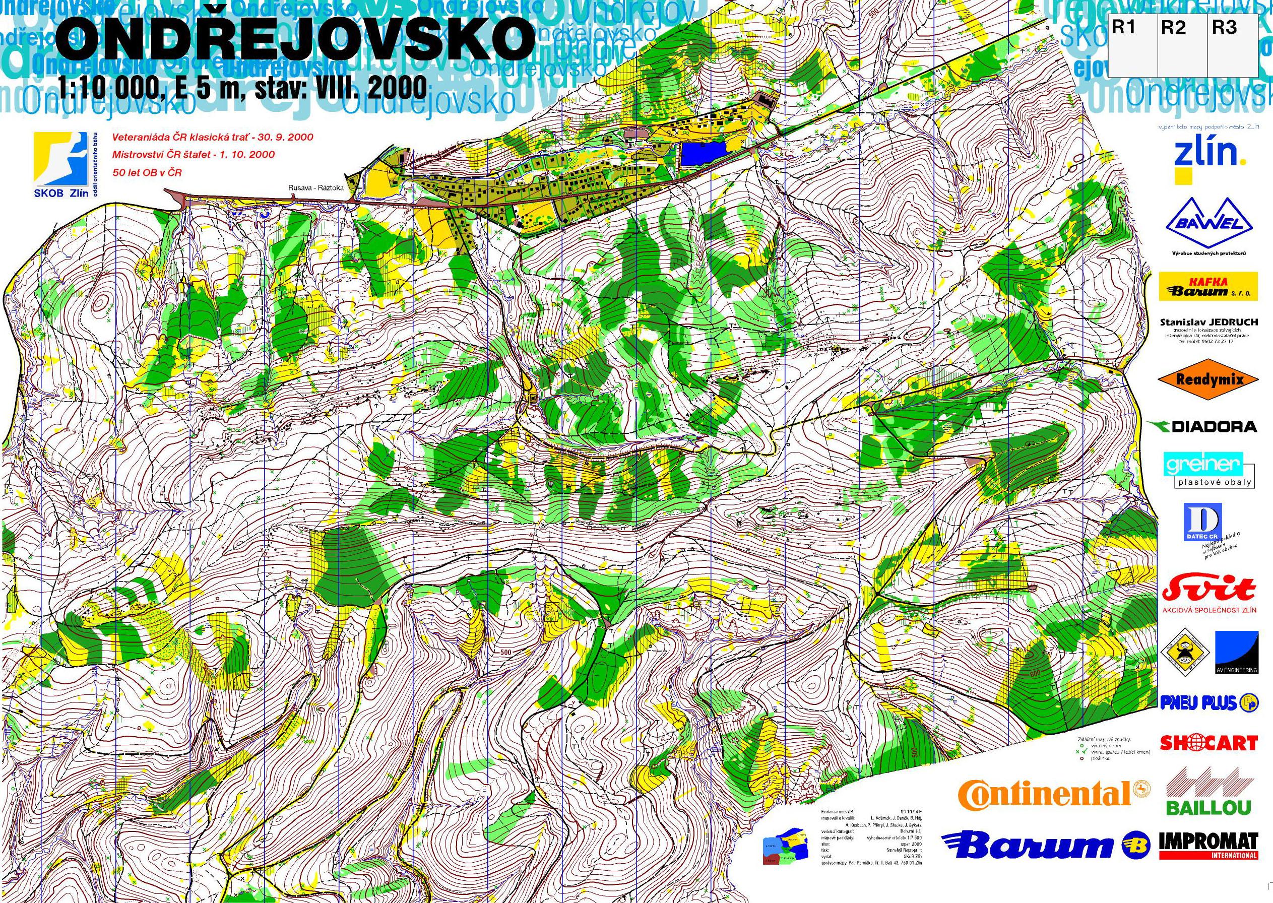 Ondřejovsko, 1:10 000